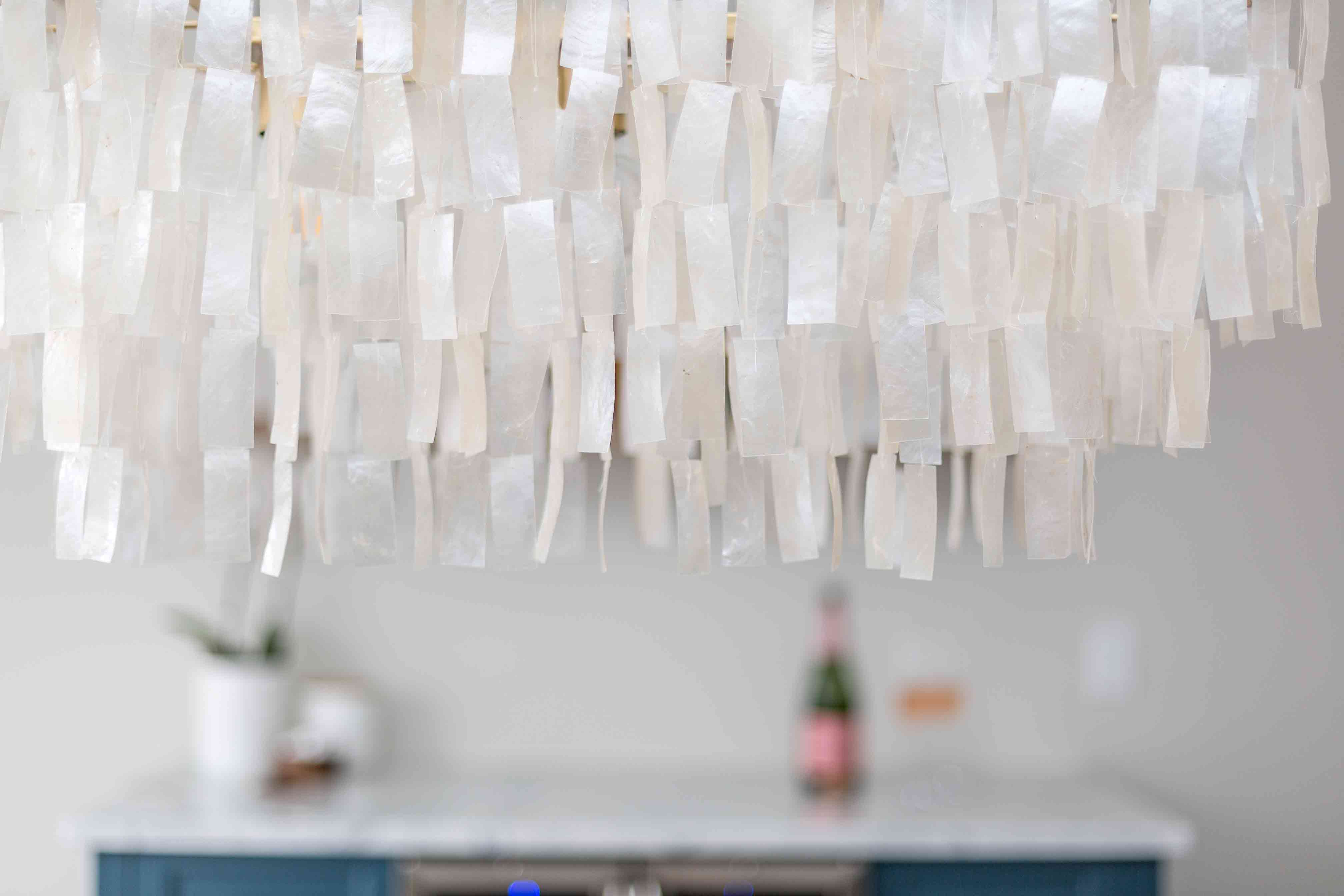 Modern pearlescent chandelier