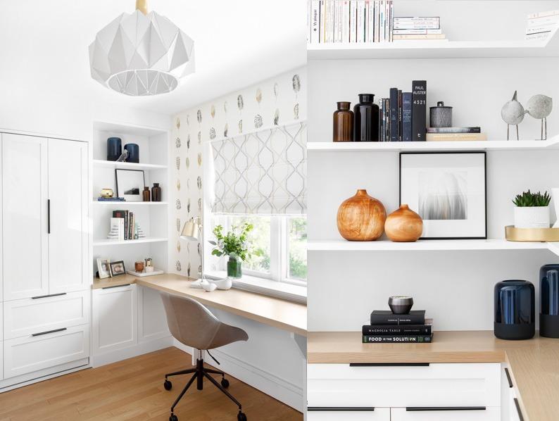 Custom home office built-ins.
